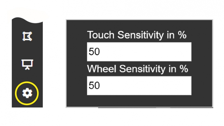 Touch & Wheel Sensitivity Settings